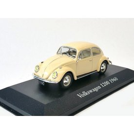Atlas Modelauto Volkswagen VW Kever 1200 1960 creme 1:43 | Atlas