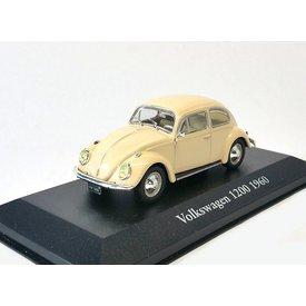 Atlas Modellauto Volkswagen VW Käfer 1200 1960 creme 1:43 | Atlas