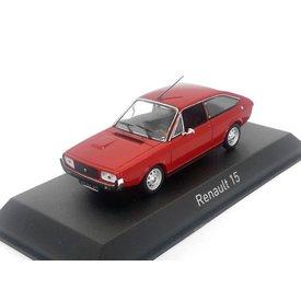 Norev Model car Renault 15 TL 1976 red 1:43   Norev