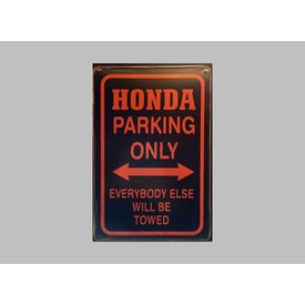 Parking Sign Honda 20x30 cm