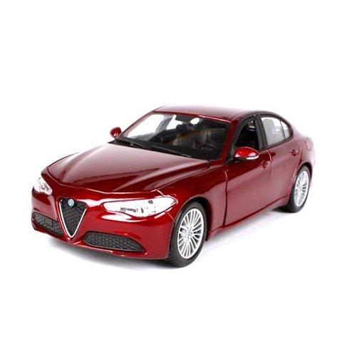 Modelauto Alfa Romeo Giulia 2016 rood metallic 1:24 | Bburago