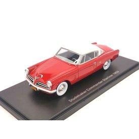 BoS Models Modellauto Studebaker Commander Starliner 1953 rot/weiß 1:43 | BoS Models