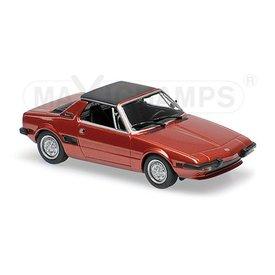 Maxichamps Modellauto Fiat X1/9 1974 rot metallic 1:43 | Maxichamps