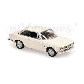 Maxichamps Modelauto Alfa Romeo Giulia Sprint GTA 1965 wit 1:43 | Maxichamps