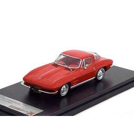 Premium X Modelauto Chevrolet Corvette C2 Stingray 1964 rood 1:43 | Premium X