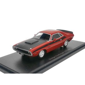BoS Models Modelauto Dodge Challenger T/A 1970 rood/zwart 1:43 | BoS Models