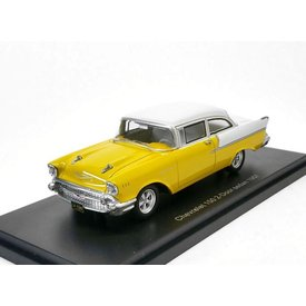 BoS Models Modellauto Chevrolet 150 2-door Sedan 1957 gelb/weiß 1:43 | BoS Models