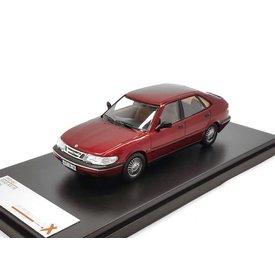 Premium X Model car Saab 900 V6 1994 bordeaux red 1:43 | Premium X