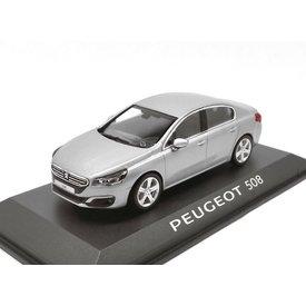 Norev Modelauto Peugeot 508 2014 grijs metallic 1:43 | Norev