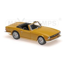 Maxichamps Modellauto Triumph TR6 1968 orange 1:43 | Maxichamps