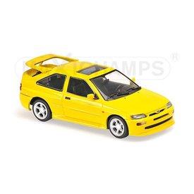 Maxichamps Model car Ford Escort Cosworth 1992 yellow 1:43 | Maxichamps