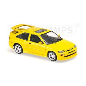 Maxichamps Modelauto Ford Escort Cosworth 1992 geel 1:43 | Maxichamps