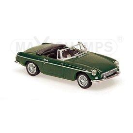 Maxichamps Modelauto MGB Cabriolet 1962 donkergroen 1:43 | Maxichamps