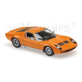 Maxichamps Modelauto Lamborghini Miura 1966 oranje 1:43 | Maxichamps
