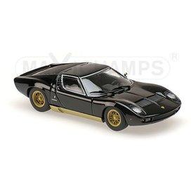 Maxichamps Modellauto Lamborghini Miura 1966 schwarz 1:43 | Maxichamps