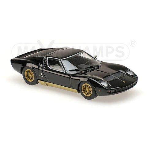 Modelauto Lamborghini Miura 1966 zwart 1:43 | Maxichamps