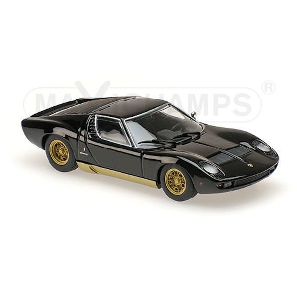 Modelauto Lamborghini Miura 1966 zwart 1:43