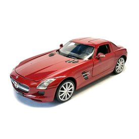Welly Modelauto Mercedes Benz SLS AMG rood 1:24 | Welly