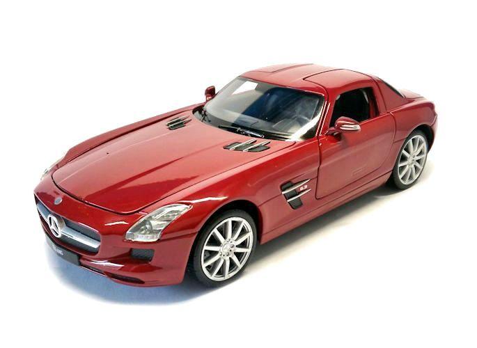 Model car mercedes benz sls amg red 1 24 for Mercedes benz sls amg toy car