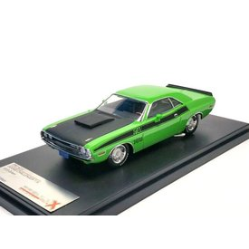 Premium X Modelauto Dodge Challenger R/T 1970 groen 1:43 | Premium X