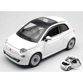 Bburago Modellauto Fiat 500 2007 weiß 1:24 | Bburago