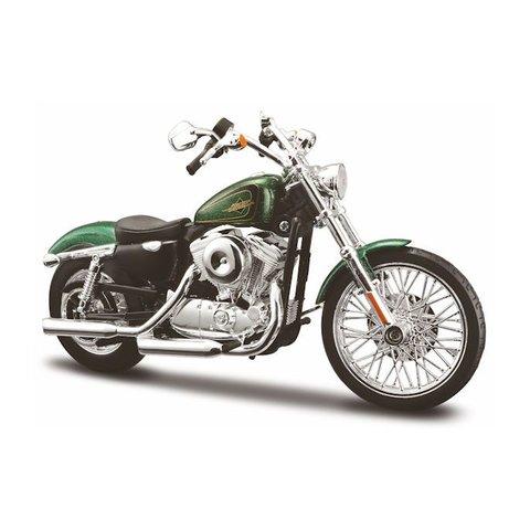 Modell-Motorrad Harley Davidson XL1200V 72 2012 grün 1:12 | Maisto