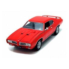 Welly Modelauto Pontiac GTO 1969 rood 1:24 | Welly