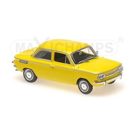 Maxichamps Modellauto NSU TT 1967 gelb 1:43 | Maxichamps