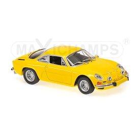 Maxichamps Modelauto Renault Alpine A110 1971 geel 1:43 | Maxichamps