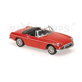 Maxichamps Modelauto MGB Cabriolet 1962 rood 1:43 | Maxichamps