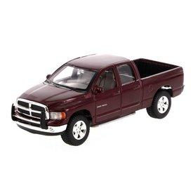 Maisto Modelauto Dodge Ram Quad Cab 2002 donkerrood 1:27 | Maisto