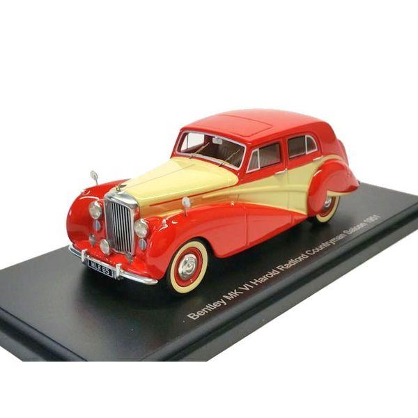 Modelauto Bentley Mk VI 1951 rood/creme 1:43 | BoS Models