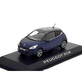 Norev Modelauto Peugeot 208 donkerblauw 1:43 | Norev