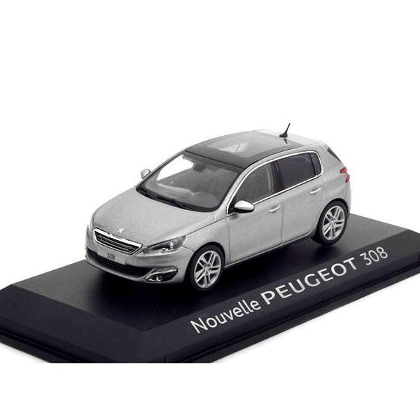 Modelauto Peugeot 308 grijs metallic 1:43 | Norev