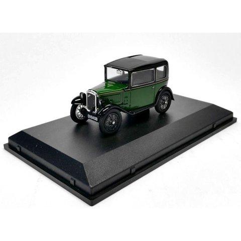 Modelauto Austin Seven RN Saloon groen/zwart 1:43 | Oxford Diecast