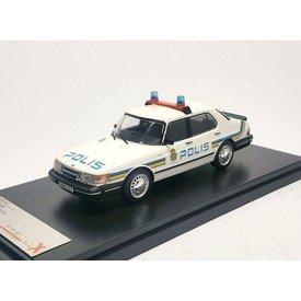 Premium X Model car Saab 900i Polis 1987 white 1:43 | Premium X