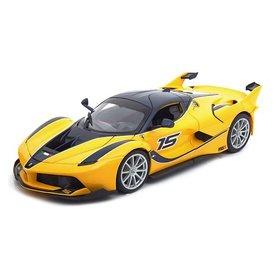 Bburago Modelauto Ferrari FXX K geel 1:18 | Bburago