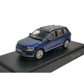 Herpa Modelauto Volkswagen VW Touareg 2015 donkerblauw 1:43 | Herpa