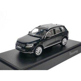 Herpa Modelauto Volkswagen (VW) Touareg 2015 zwart 1:43 | Herpa