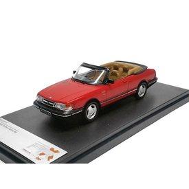 Premium X Modelauto Saab 900 Cabriolet 1991 rood 1:43 | Premium X
