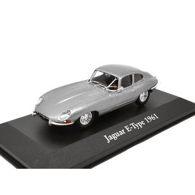 Atlas Model car Jaguar E-type 1961 grey metallic 1:43 | Atlas