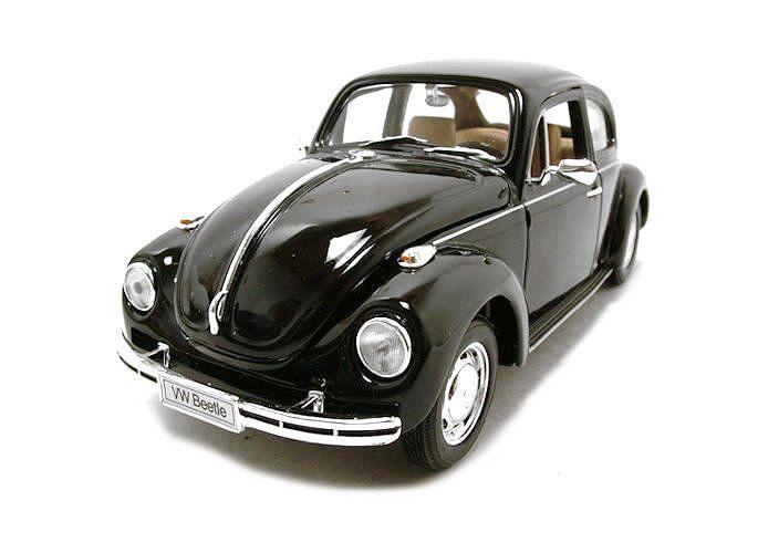 modellauto volkswagen vw k fer schwarz 1 24 welly. Black Bedroom Furniture Sets. Home Design Ideas