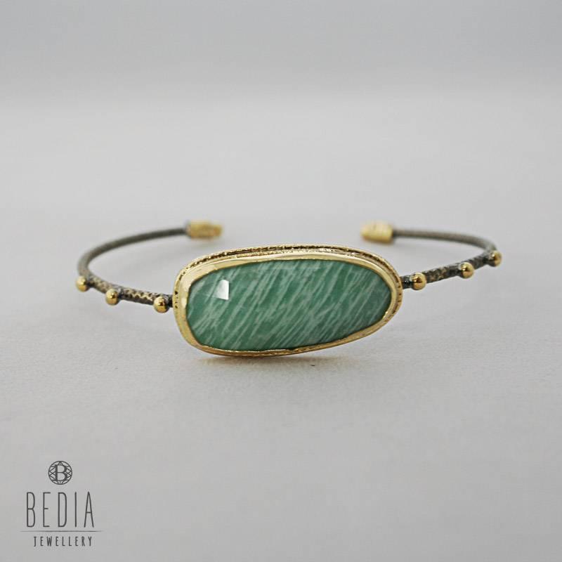 Klem armband groen