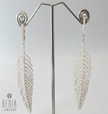 "Earrings ""Silver feather"""
