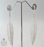 "Oorbellen ""Silver feather"""
