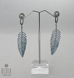 """Oorbellen """"Blue feather"""""""
