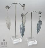 """Earrings """"Blue Feather"""""""