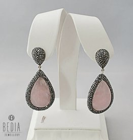 "Earrings ""Rose quartz"""