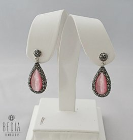 "Earrings pink ""Cateye"""