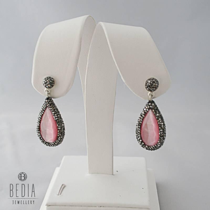 """Earrings pink """"Cateye"""""""
